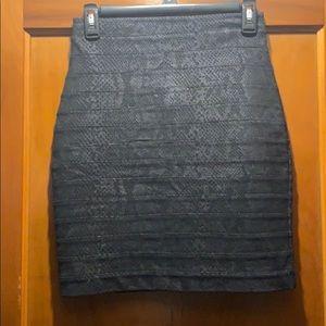 Express snakeskin print skirt 0